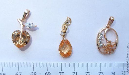 Для украшений ручной работы. Ярмарка Мастеров - ручная работа. Купить Кулоны подвески Gold Filled 3 вида. Handmade.
