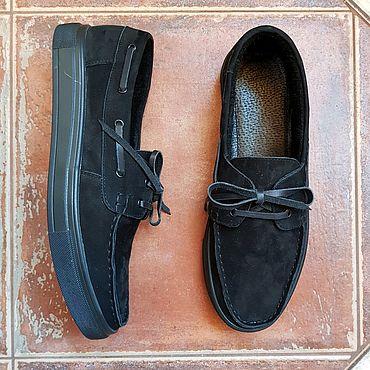 Обувь ручной работы. Ярмарка Мастеров - ручная работа Топсайдеры: #634-BN ТопСайдеры. Handmade.