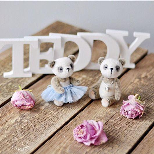 Мишки Тедди ручной работы. Ярмарка Мастеров - ручная работа. Купить Тедди панды Вил и Джулли. Handmade. Чёрно-белый