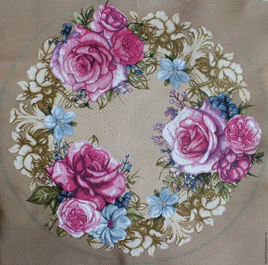 Шитье ручной работы. Ярмарка Мастеров - ручная работа. Купить ВАЛЬС цветов: круглая гобеленовая заготовка, 50 см. Handmade.