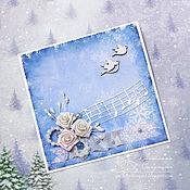 """Открытки ручной работы. Ярмарка Мастеров - ручная работа Открытка """"Музыка под снегом"""". Handmade."""