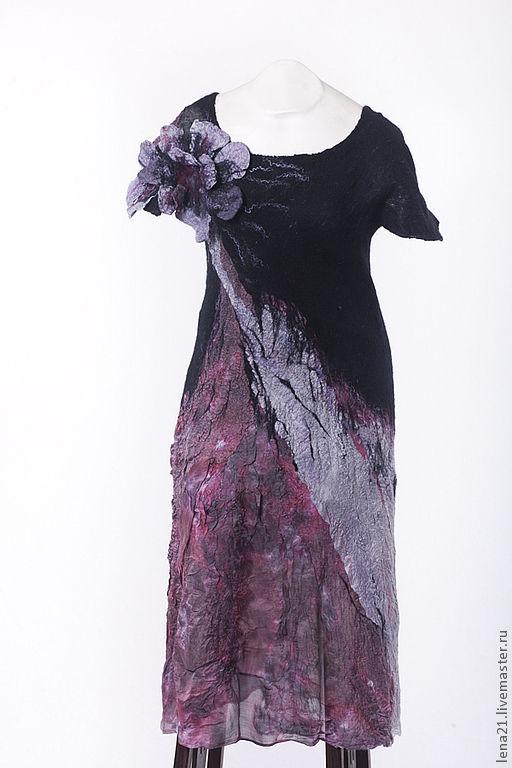 Платья ручной работы. Ярмарка Мастеров - ручная работа. Купить платье чернично-брусничное. Handmade. Брусничный, ручная авторская работа