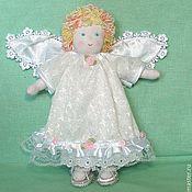 Куклы и игрушки ручной работы. Ярмарка Мастеров - ручная работа текстильная кукла  Кудрявый Ангелочек. Handmade.