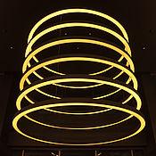 Для дома и интерьера ручной работы. Ярмарка Мастеров - ручная работа Люстра из 6 колец. Handmade.