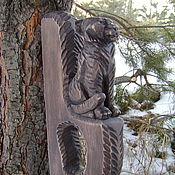 """Для дома и интерьера ручной работы. Ярмарка Мастеров - ручная работа Ручка для бани (сауны) """" Тигр"""". Handmade."""