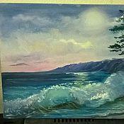Картины и панно ручной работы. Ярмарка Мастеров - ручная работа Лунный берег. Handmade.