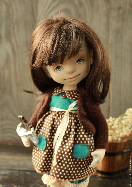 Коллекционные куклы ручной работы. Ярмарка Мастеров - ручная работа. Купить Вкусненько. Handmade. Шоколад, кукла текстильная, collectible doll