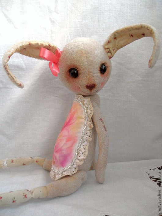 Мишки Тедди ручной работы. Ярмарка Мастеров - ручная работа. Купить Ванильная заинька Розали (резерв). Handmade. Бежевый