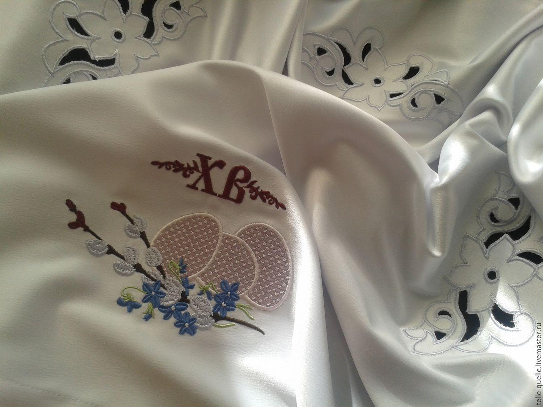 Схема вышивки скатерти машинная