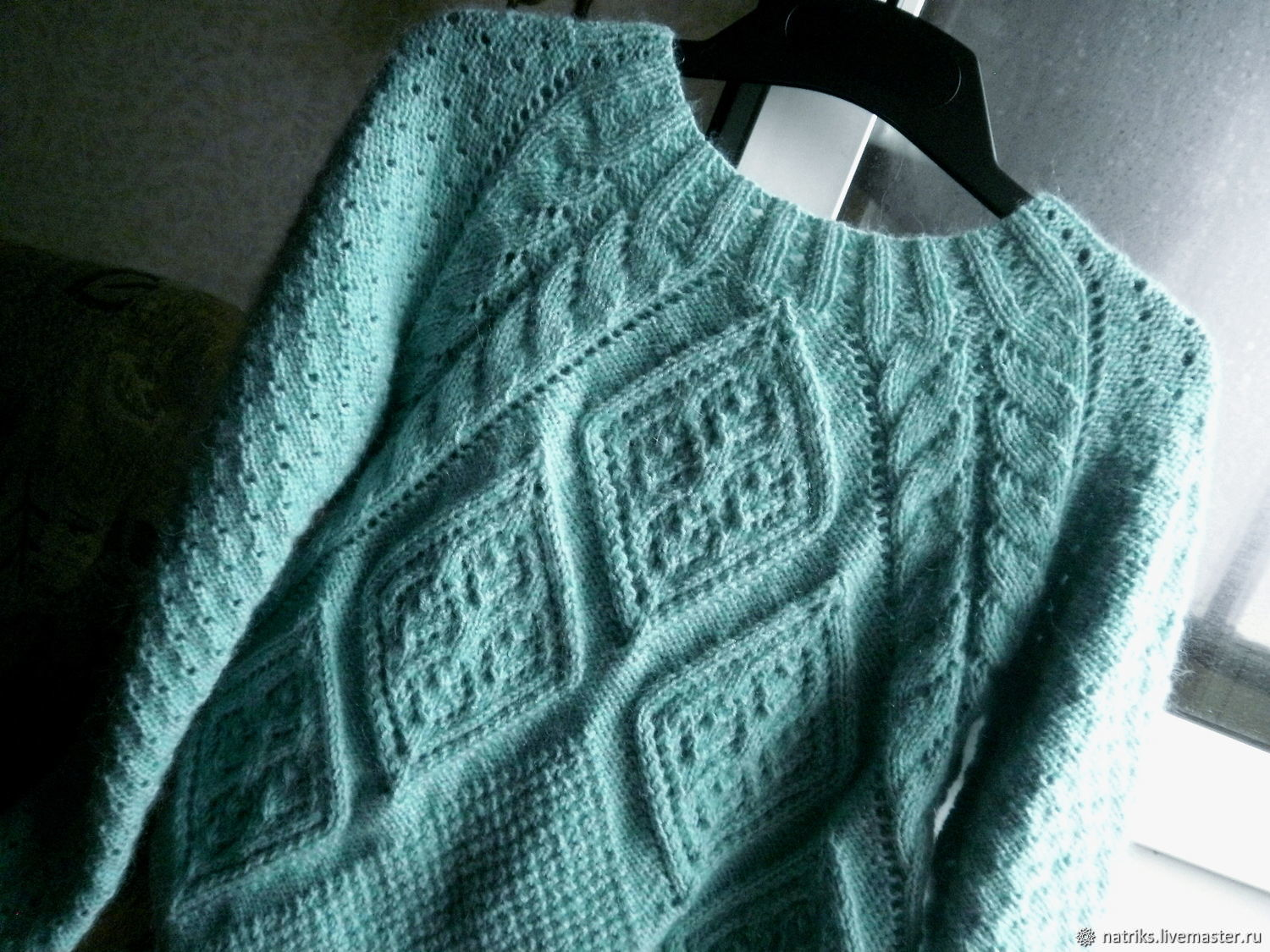 Sweater women knitted Anet of the kid mohair and wool mixture, Sweaters, Krivoy Rog,  Фото №1