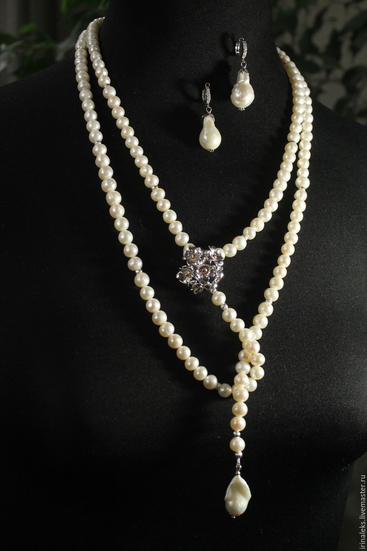 Beads 'Long classic', Necklace, Nizhny Novgorod,  Фото №1