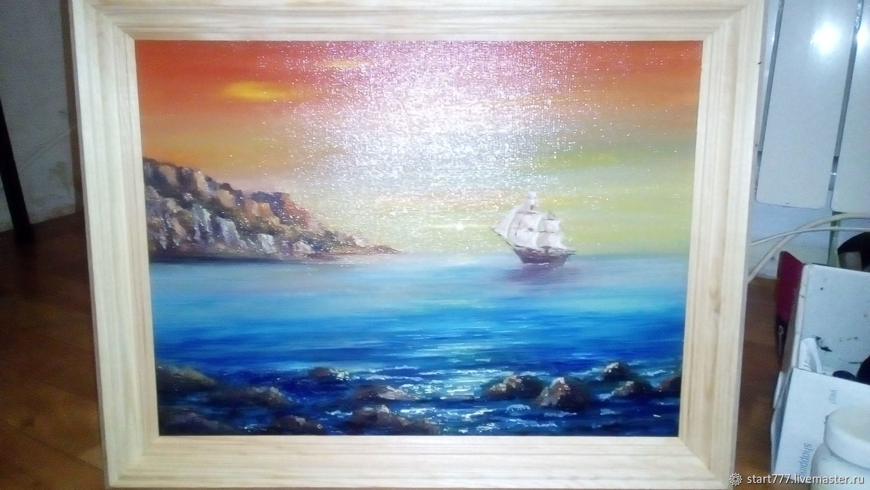 Море,кораблик, Картины, Липецк,  Фото №1