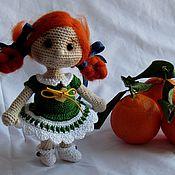 Куклы и игрушки ручной работы. Ярмарка Мастеров - ручная работа Куколка Мандаринка. Handmade.