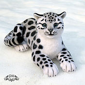 Куклы и игрушки handmade. Livemaster - original item snow leopard (toy from felt). Handmade.