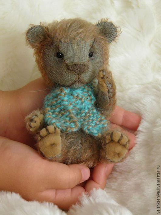 Мишки Тедди ручной работы. Ярмарка Мастеров - ручная работа. Купить тедди-мишка СТЁПА. Handmade. Тёмно-бирюзовый