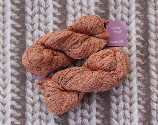 Вязание ручной работы. Ярмарка Мастеров - ручная работа. Купить Пряжа Debbie Bliss Paloma Tweed Terracotta. Handmade. Оранжевый