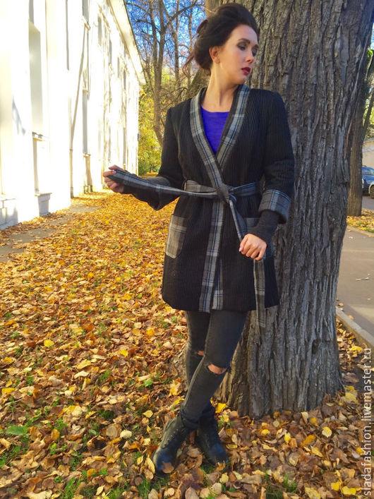 Верхняя одежда ручной работы. Ярмарка Мастеров - ручная работа. Купить Пальто Старая Англия. Handmade. Черный, Пальто на осень