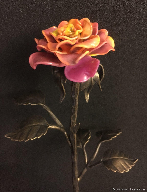 Ковано-стеклянная роза (мультиколор), Цветы, Москва,  Фото №1