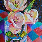 Картины и панно handmade. Livemaster - original item Flowers give us the mood. Handmade.