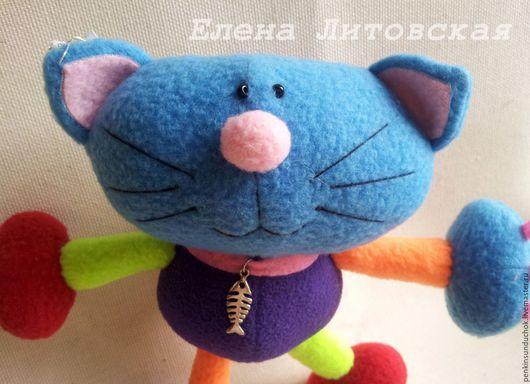 Игрушки животные, ручной работы. Ярмарка Мастеров - ручная работа. Купить Разноцветный кот. Handmade. Игрушка ручной работы, подарок