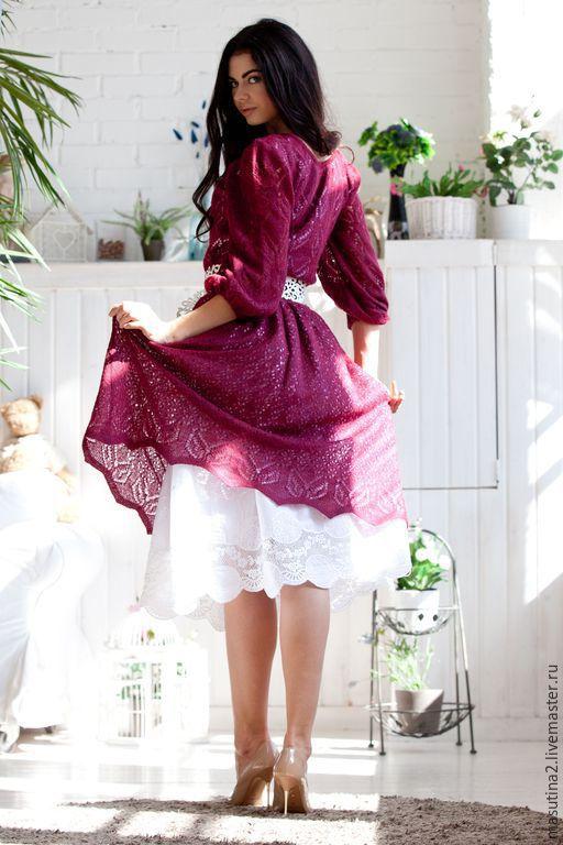 """Платья ручной работы. Ярмарка Мастеров - ручная работа. Купить Платье """"Бургундия"""". Handmade. Бордовый, хочу платье, мохер"""