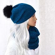 Аксессуары handmade. Livemaster - original item Knitted hat women`s Snood set