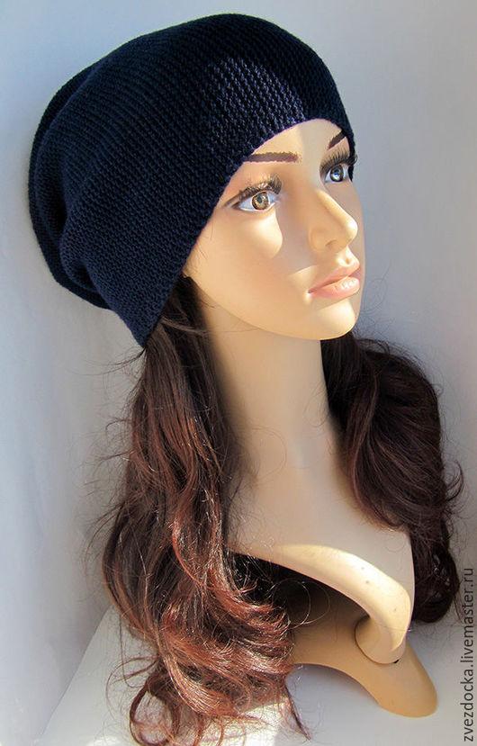 """Шапки ручной работы. Ярмарка Мастеров - ручная работа. Купить шапка """"Galaxy"""" весенняя. Handmade. Тёмно-синий, красивая шапка"""