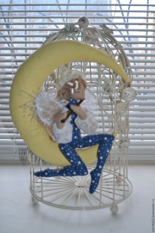 Подвески ручной работы. Ярмарка Мастеров - ручная работа. Купить Ангел на Луне. Ноктюрн на флейте.. Handmade. Синий, подарок женщине