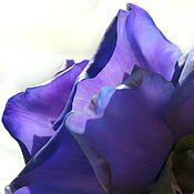 Цветы и флористика ручной работы. Ярмарка Мастеров - ручная работа СИНЯЯ РОЗА(флористическая полимерная глина). Handmade.
