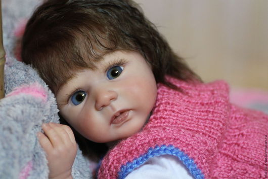 Куклы-младенцы и reborn ручной работы. Ярмарка Мастеров - ручная работа. Купить Кукла реборн Олеся.. Handmade. Бежевый, скульптор