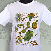Одежда handmade. Livemaster - original item Passionflower T-Shirt-Botanical Illustration. Handmade.
