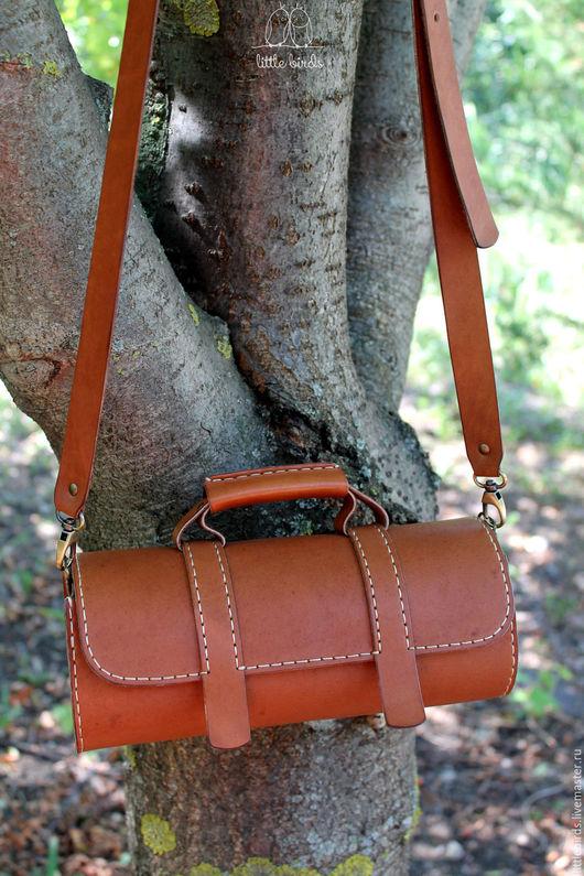 Женские сумки ручной работы. Ярмарка Мастеров - ручная работа. Купить Сумочка-батончик из натуральной кожи. Handmade. Рыжий