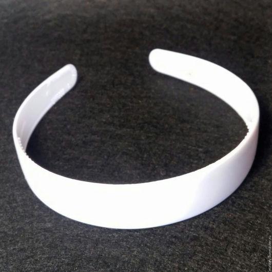 Для украшений ручной работы. Ярмарка Мастеров - ручная работа. Купить Ободки белые ширина 2,5 см. Handmade.