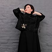 Одежда handmade. Livemaster - original item Skirt A-line knit black. Art. 1161. Handmade.