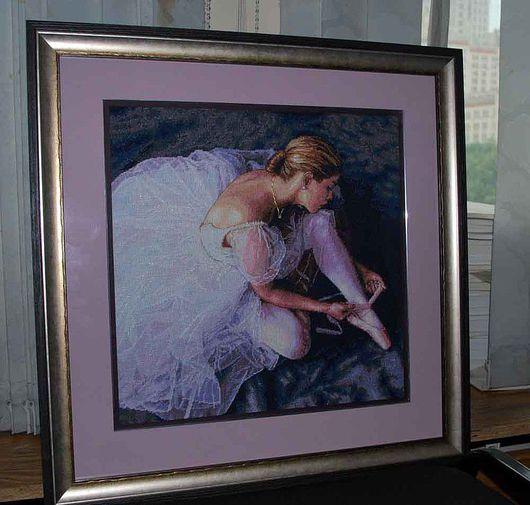 Люди, ручной работы. Ярмарка Мастеров - ручная работа. Купить Балерина. Handmade. Вышивка оформленная, балерина, хлопок, нитки хлопок
