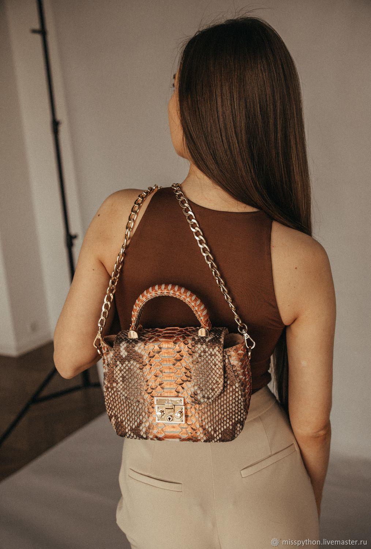 Bag leather Python, Crossbody bag, Izhevsk,  Фото №1