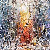 """Картины и панно ручной работы. Ярмарка Мастеров - ручная работа """"Зимний лес"""". Handmade."""