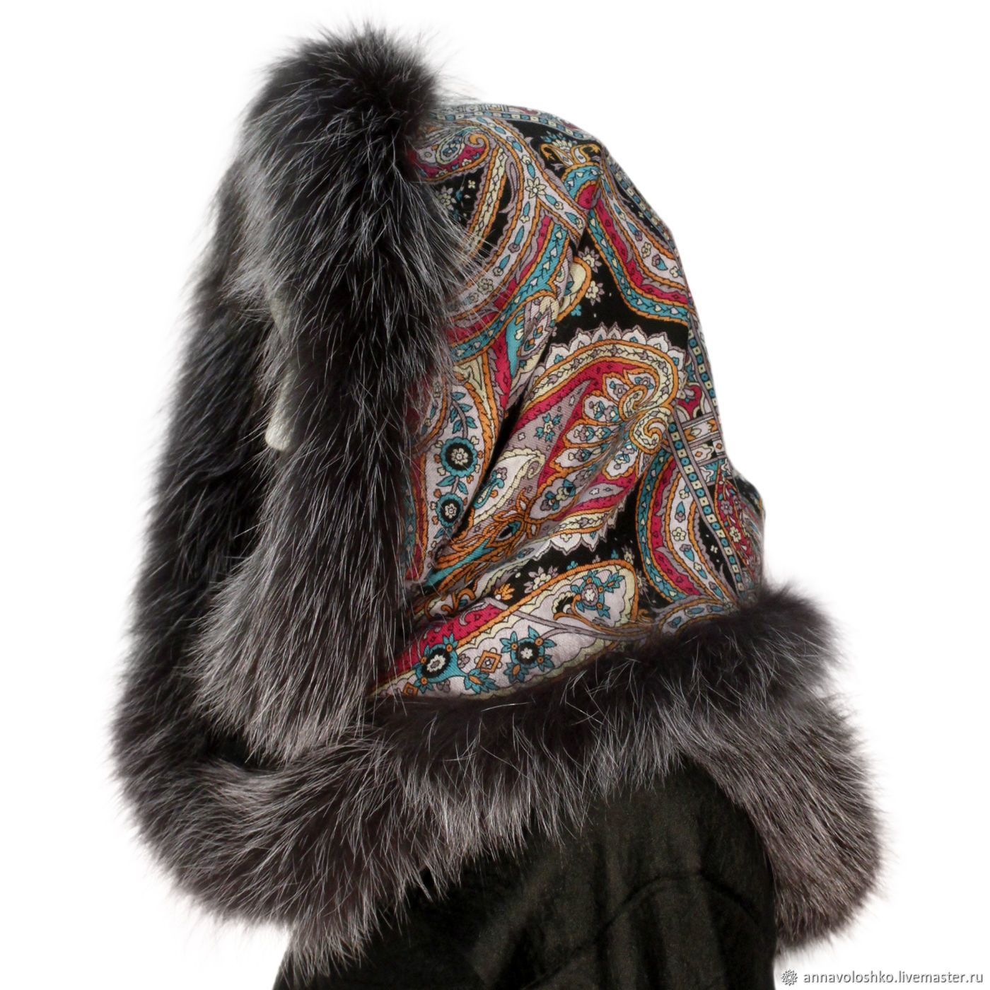 Snood-a scarf with fur trimming 'City of gold', Snudy1, Moscow,  Фото №1