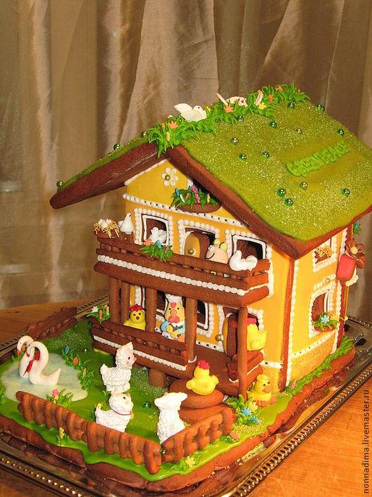 Кулинарные сувениры ручной работы. Ярмарка Мастеров - ручная работа. Купить Подарочный пряничный дом. Handmade. Желтый