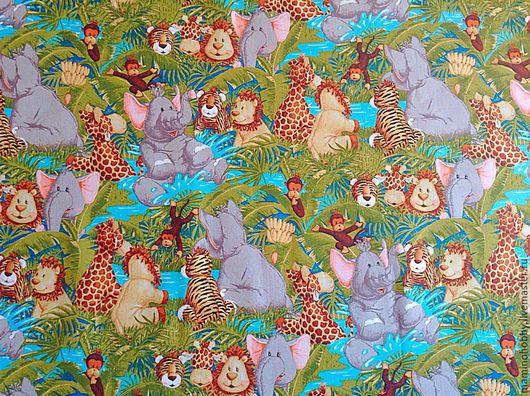 Шитье ручной работы. Ярмарка Мастеров - ручная работа. Купить Ткань хлопок для пэчворка Африканские малыши. Handmade. Разноцветный
