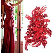 Материалы для творчества handmade. Livemaster - original item Red Flowers lace applique, handmade. Handmade.