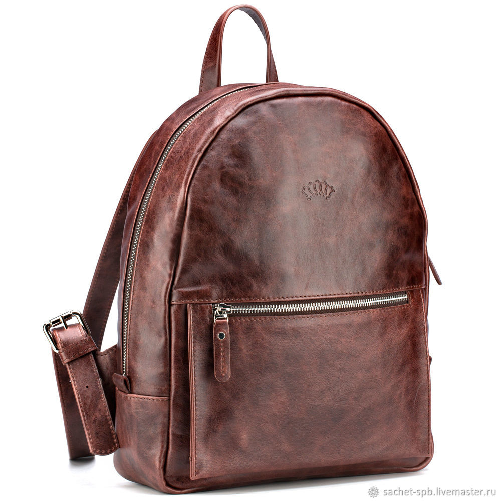 Leather backpack 'Jessica' (antique brown), Backpacks, St. Petersburg,  Фото №1