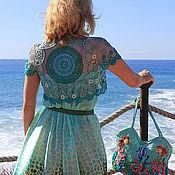 """Одежда ручной работы. Ярмарка Мастеров - ручная работа Болеро """" В цвете Tiffany"""". Handmade."""
