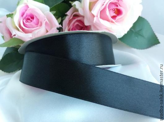 Шитье ручной работы. Ярмарка Мастеров - ручная работа. Купить Лента атласная (25 мм)_черный. Handmade. Атласная лента