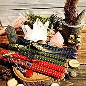 Ритуальная свеча ручной работы. Ярмарка Мастеров - ручная работа Свечи из цветной вощины. Handmade.