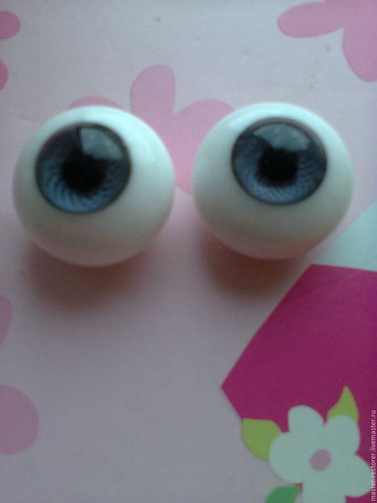 Куклы и игрушки ручной работы. Ярмарка Мастеров - ручная работа. Купить стеклянные глаза для куклы 28 мм.. Handmade. Глаза