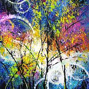 Картины и панно ручной работы. Ярмарка Мастеров - ручная работа Картина на холсте Абстракция Интерьерная живопись Розовые цветы. Handmade.