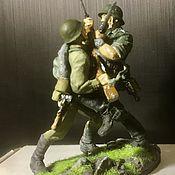 Куклы и игрушки handmade. Livemaster - original item Tin soldiers 54mm. Fight.. Handmade.