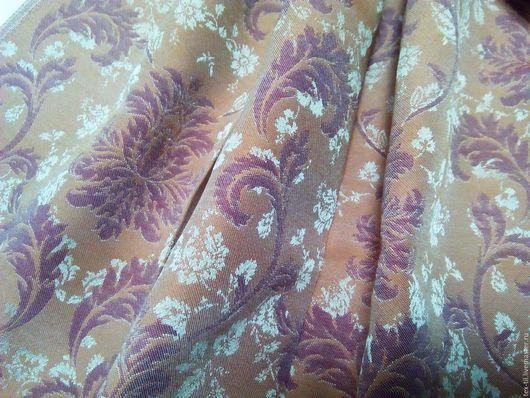Текстиль, ковры ручной работы. Ярмарка Мастеров - ручная работа. Купить Портьерная ткань с классическим рисунком рыже-брусничного цвета. Handmade.