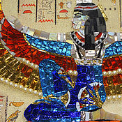 Картины и панно handmade. Livemaster - original item Panels of the mosaic. Iside with gold wings. Handmade.